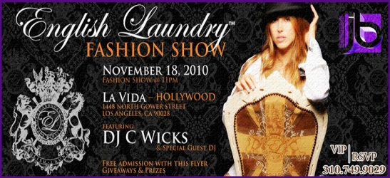 Jamie Barren presents English Laundry fashion show at La Vida