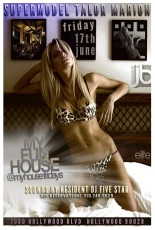 Supermodel Talor Marion hosts Friday MYhouse Hollywood.