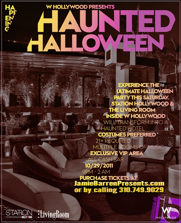 W hollywood haunted halloween hollywood la nightlife for Hollywood beach resort haunted
