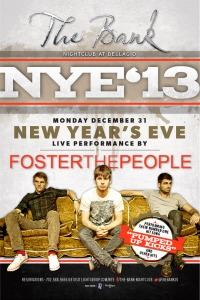NYE with Foster The People at Bank Nightclub Las Vegas