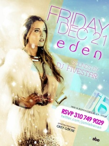 Eden Hollywood nightclub Fridays