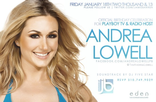 Playboy Radio's Andrea Lowell Birthday Bash
