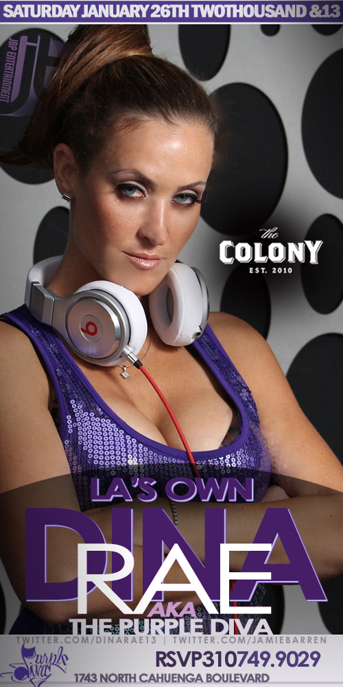 Dina Rae Hosts Colony Hollywood Nightclub