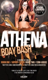 Playboy Model Athena Lundberg Birthday at Colony Nightclub