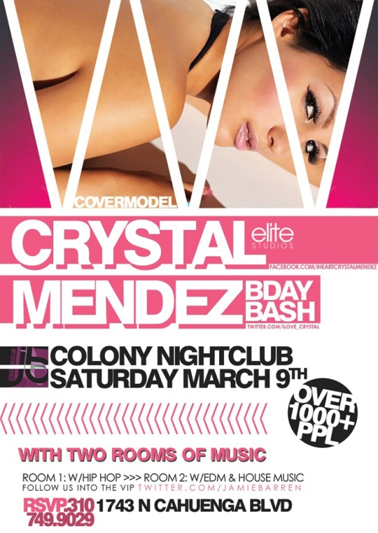 CoverModel Crystal Mendez Birthday at Colony Nightclub
