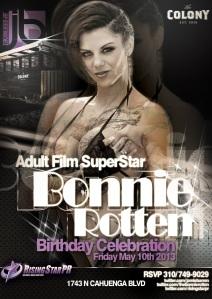 Bonnie Rotten Pornstar Birthday at Colony Nightclub