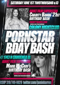 Charity Bangs and Marie McCray Birthdays at Colony Nightclub