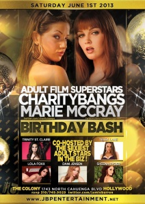 Adult Stars Charity Bangs and Marie McCray Birthdays at Colony