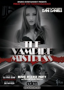 Dani Daniels Hosts Vampire Mistress Movie Release Party
