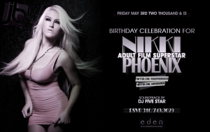 Adult Star Nikki Phoenix Birthday at Eden