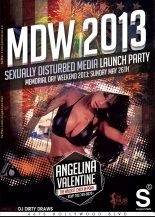 Angelina Valentine Hosts MDW 2013 Supperclub LA