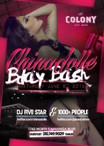 Video Vixen Chinadolle Birthday at Colony LA