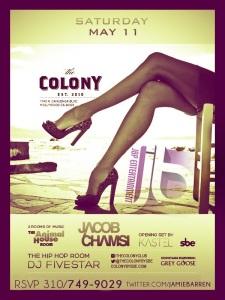 Jacob Chamsi at Colony Hollywood Saturdays