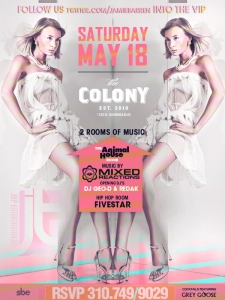 Colony Hollywood Saturdays