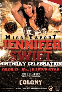 Ms Tapout Jennifer Swift Birthday at Colony Nightclub