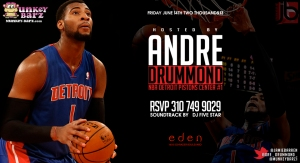 NBA Pistons Andre Drummond Hosts Eden Fridays
