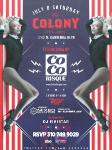 Colony Hollywood Fashion Show Saturday, July 6th 2013