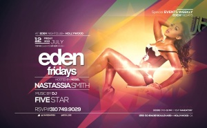 CoverModel Nastassia Smith Hosts Eden Fridays