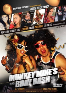 Adult Stars Barbie and Raven Bay Host MunkeyBarz at Eden