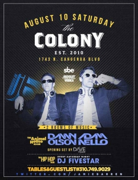 Colony Hollywood Saturdays