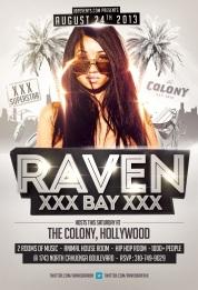 """Adult Star Raven Bay Hosts Colony LA"""