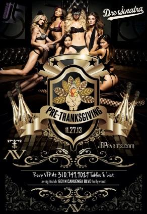 """AVnightclub Pre-Thanksgiving flyer image"""