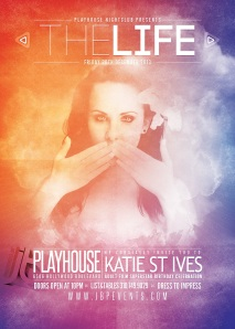 """Katie St Ives Birthday at Playhouse Nightclub flyer image"""