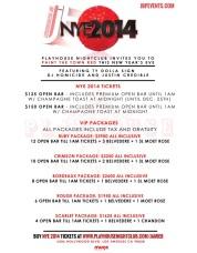Playhouse NYE 2014 Event Info