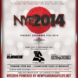 """Playhouse Hollywood NYE 2014 flyer 800x800"""