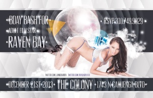 """Adult Star Raven Bay Birthday at Colony flyer image"""