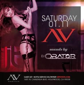 """AVnightclub Hollywood Saturdays 2014 January 11 flyer 700x713"""