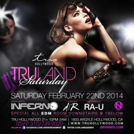 """Tru Hollywood Saturdays flyer image800x800"""