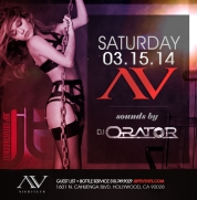 """AV Nightclub Saturdays DJ Orator event flyer 700x713"""