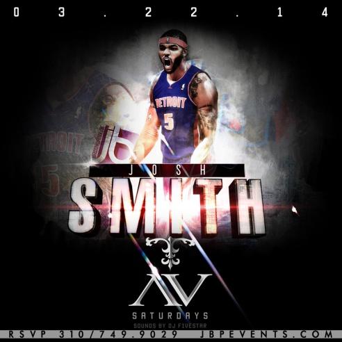 """AVnightclub Saturdays Josh Smith and Detroit Pistons Host 900x900"""