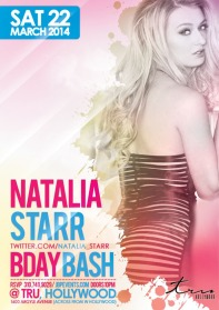 """Adult Star Natalia Starr Birthday at Tru Hollywood Flyer 600x850"""