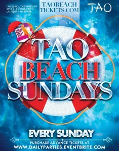 """Tao Beach Vegas Pool Party"""