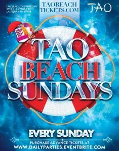 """Tao Beach Vegas Pool Party"""