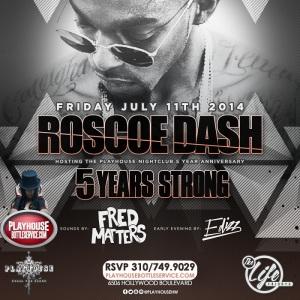 """Roscoe Dash Hosts Playhouse Nightclub 5yr Anniversary"""