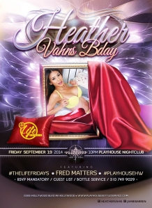 """Heather Vahn Birthday at Playhouse"""