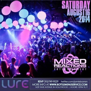 """Lure Nightclub Saturdays 2014 August 16"""