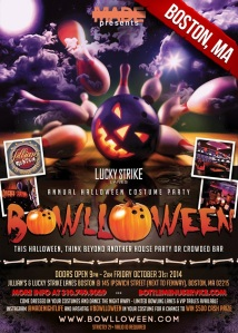 """Bowlloween Halloween Jillians Boston Lucky Strike"""