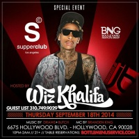 """Wiz Khalifa Thursday Sep18 Supperclub"""