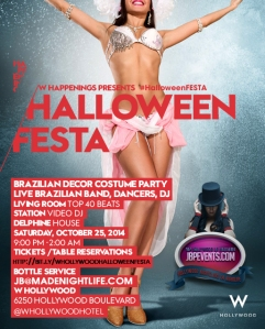 """Halloween Festa 2014 at W Hollywood"""