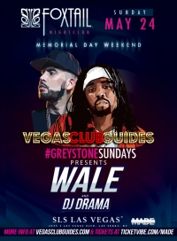 Wale Memorial Day Weekend 2015 Foxtail Las Vegas