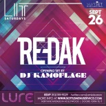 Lure Nightclub September 26 Saturday