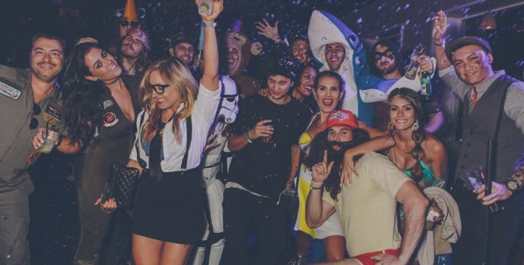 Skybar LA Halloween Night
